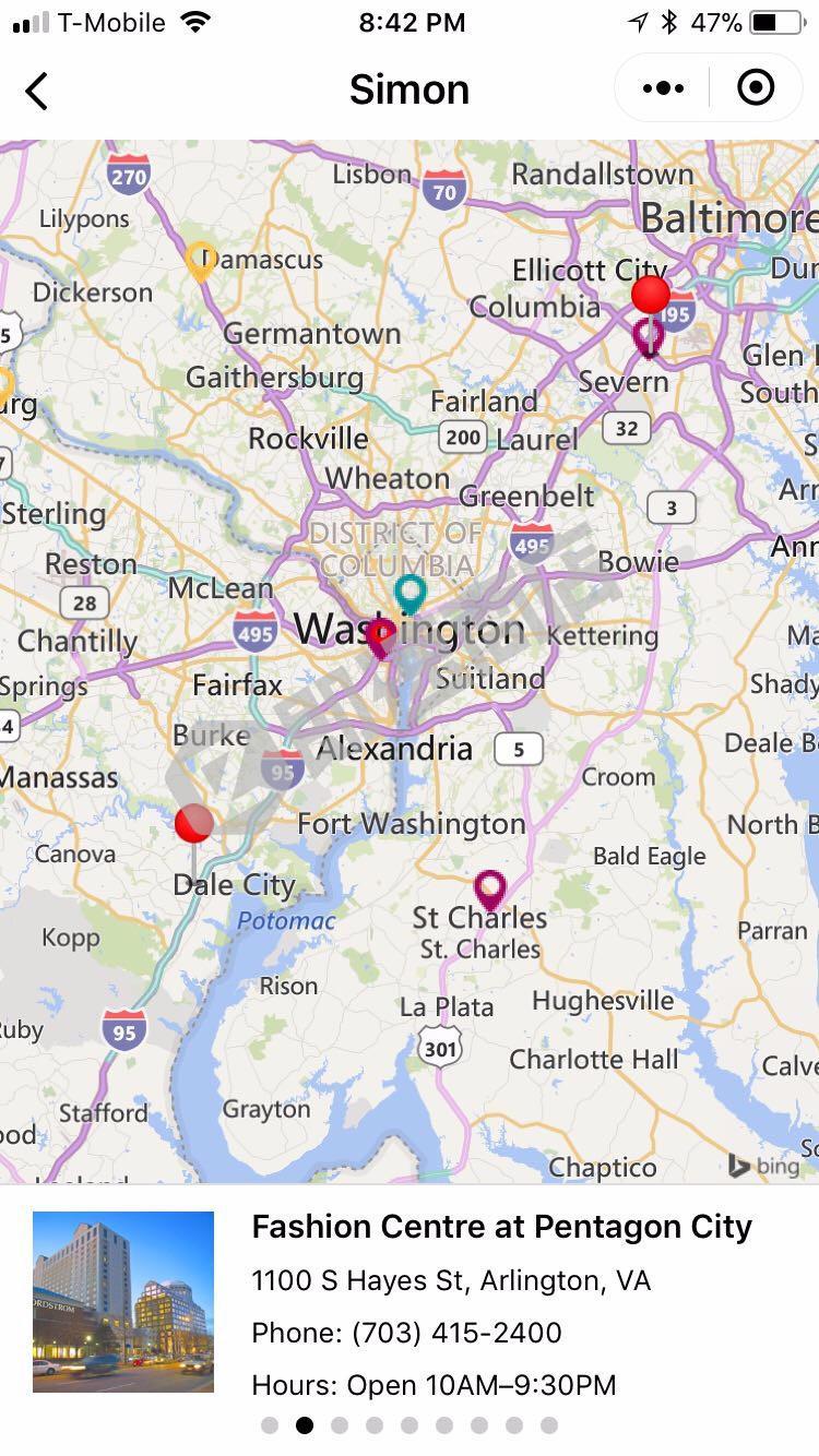 西盟购物中心和奥特莱斯购物指南小程序详情页截图1