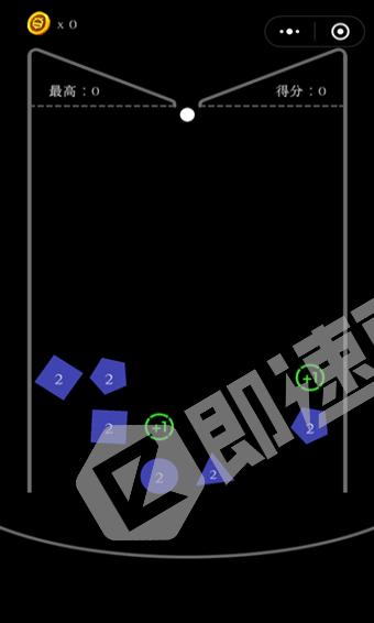 方块弹球小程序列表页截图