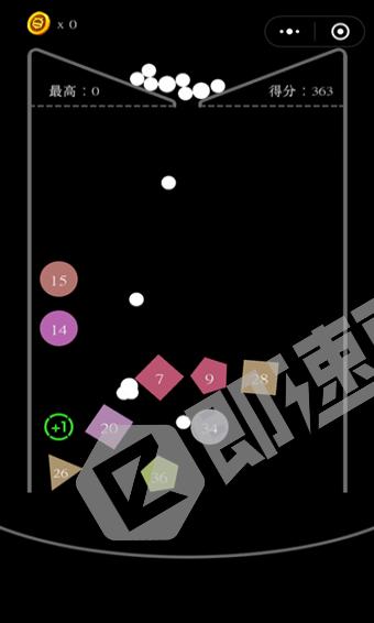 方块弹球小程序详情页截图