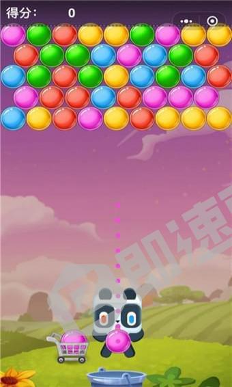 熊猫泡泡龙小程序首页截图