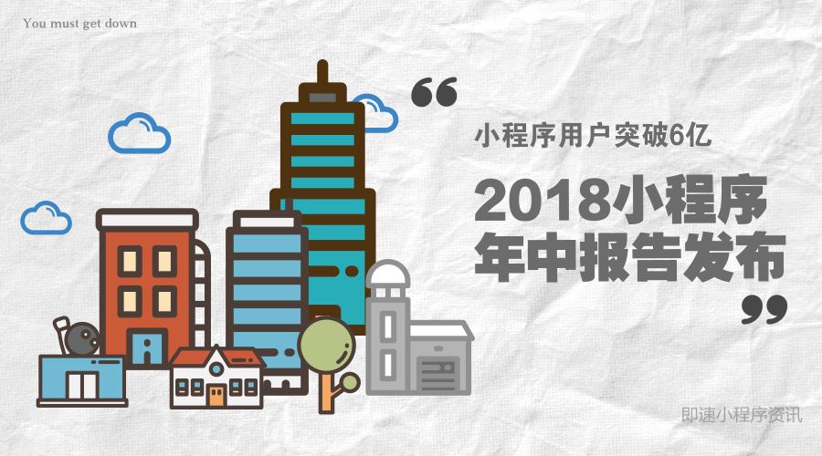 小程序用户突破6亿!2018微信小程序年中报告发布