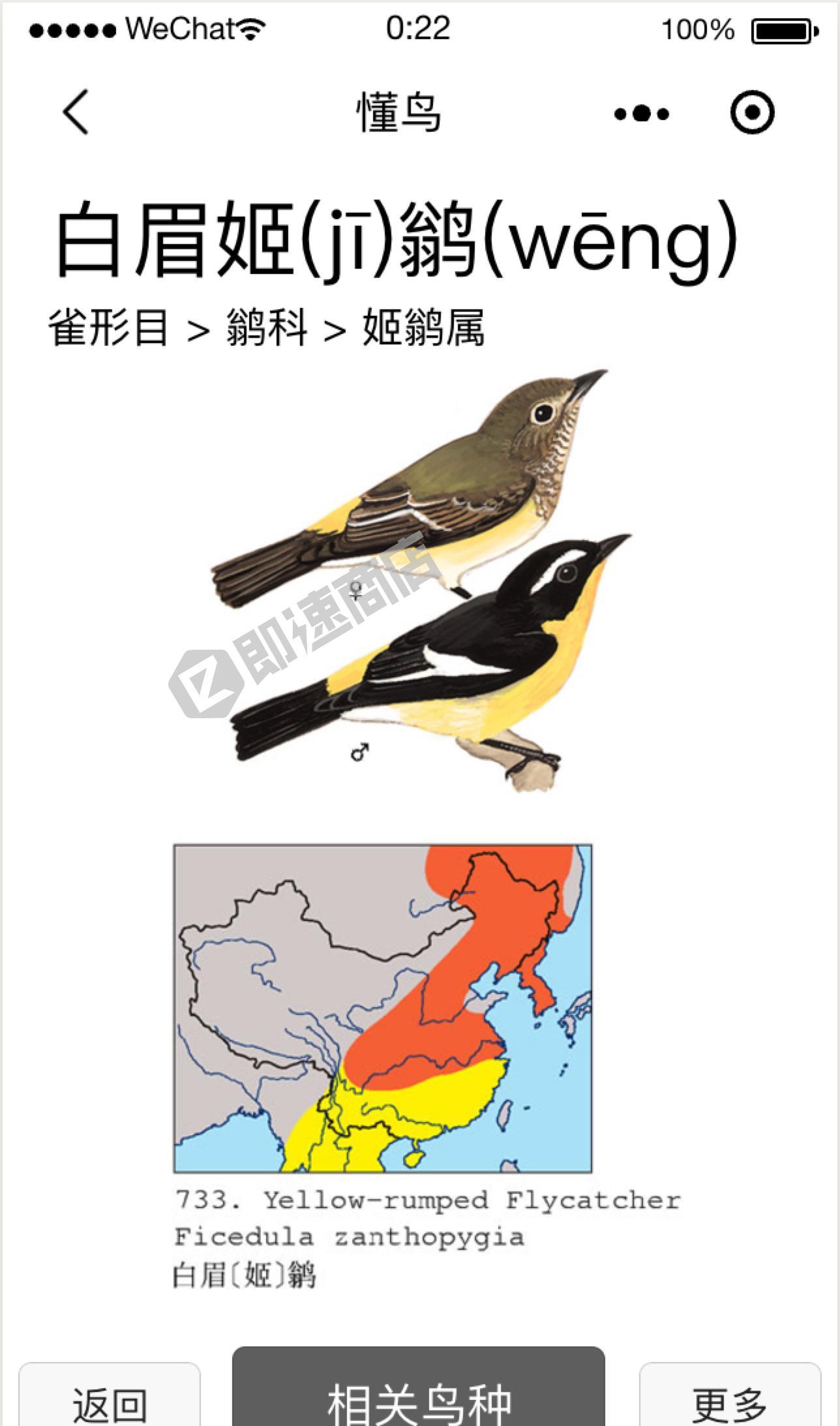 懂鸟小程序列表页截图
