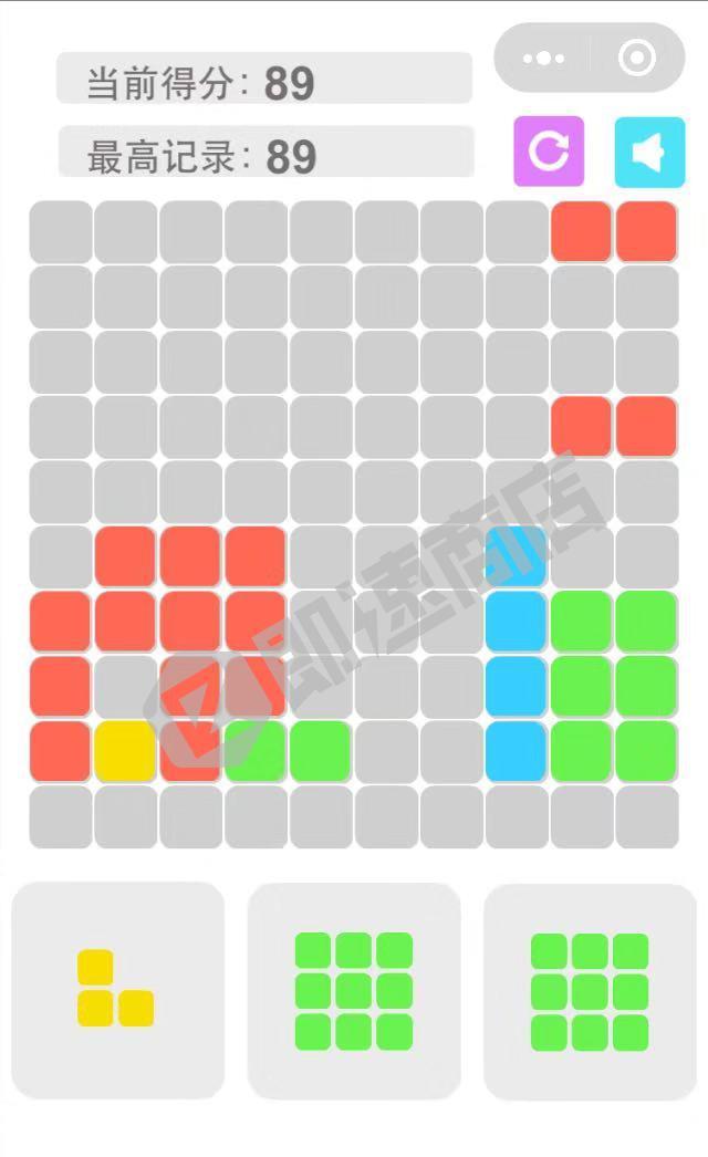 正方形消消乐小程序详情页截图
