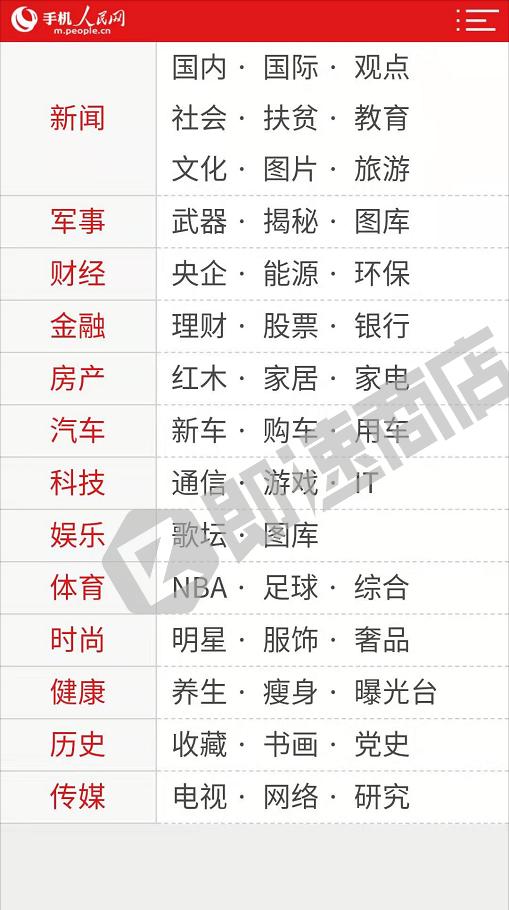 人民网小程序列表页截图