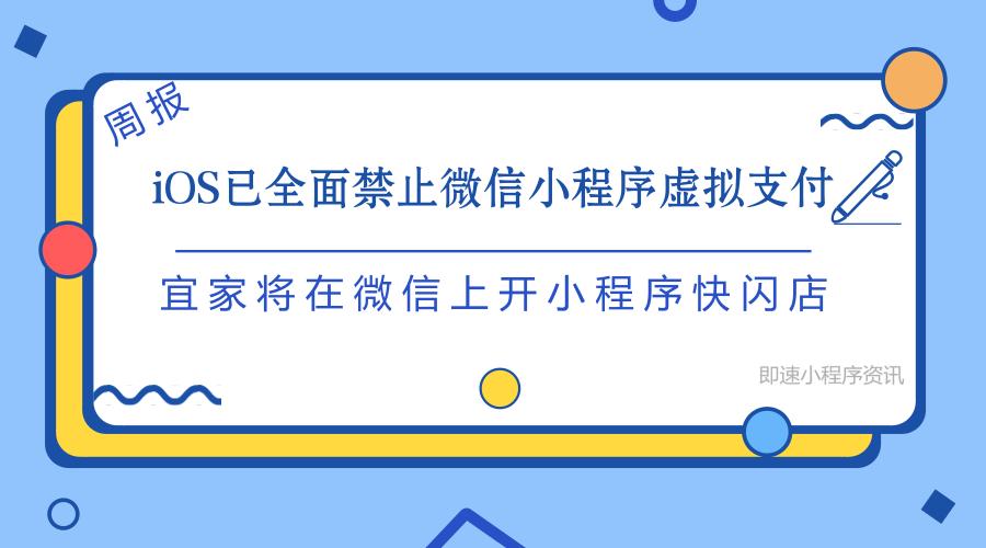亚博-iOS 已全面禁止微信小程序虚拟支付、宜家将在微信上开小程序快闪店 | 周报