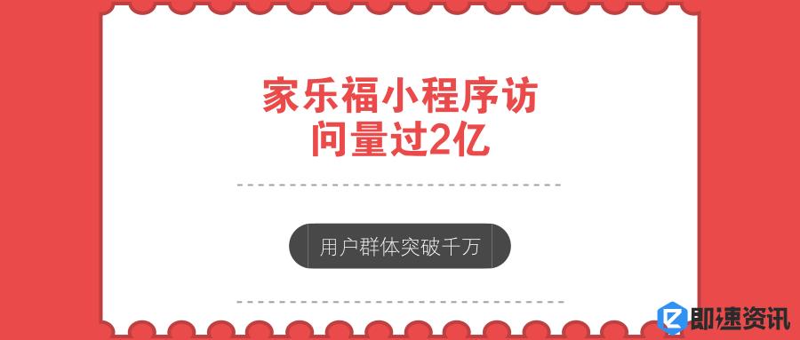 亚博-家乐福小程序访问量过2亿,用户群体突破千万