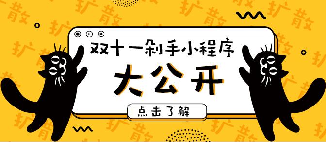 2018.11.11双11剁手小程序报道!